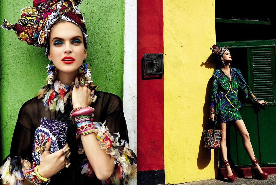 "Mirte Maas by Giampaolo Sgura (""Carmen Miranda Reloaded"") - February 2013 - Vogue Brazil"