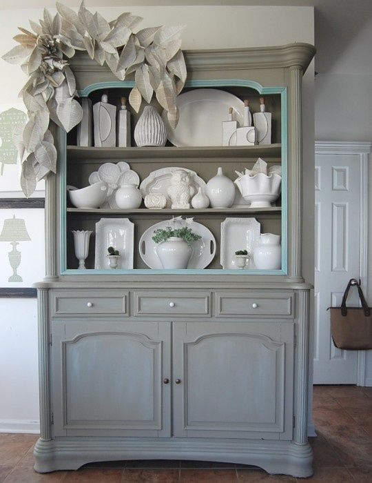 Love the aqua accent when repainting old furniture! | Decor ...