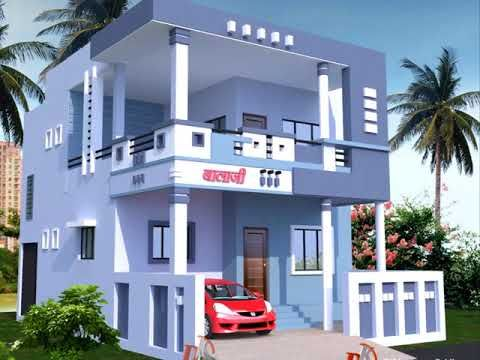 How Look Sky Blue Color For Home Exterior Color Combination For House Youtube In 2020 House Exterior Blue House Exterior Colors Blue Duplex House Design