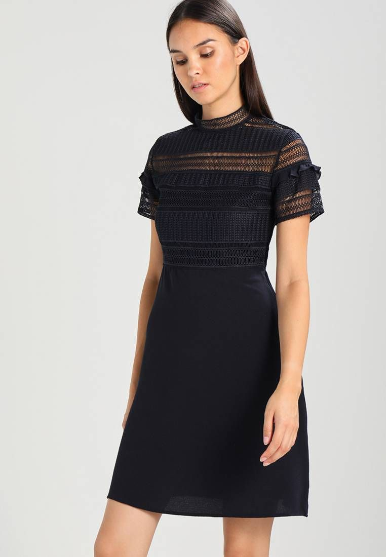 38d7f5e8f5d9bf Vila. VIALLER - Korte jurk - dark navy. Materiaal buitenlaag 96% polyester