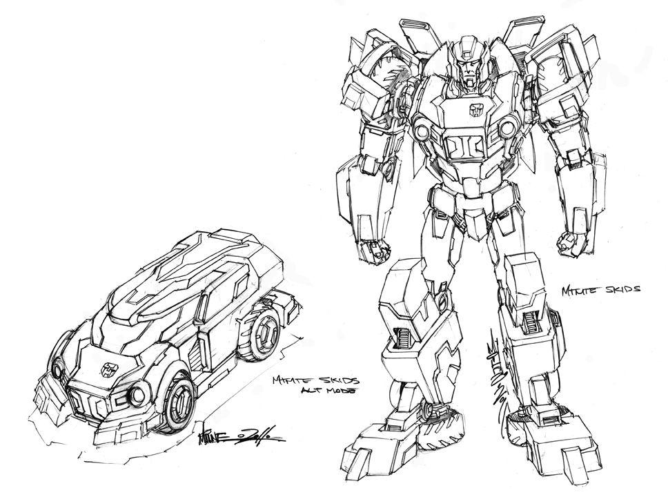 Mtmte Skids Design By Markerguru Deviantart Com On Deviantart Transformers Art Concept Art Transformers Comic