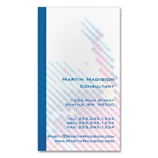 Rainbow color abstract consultant business cards consultant business rainbow color abstract consultant business cards reheart Choice Image