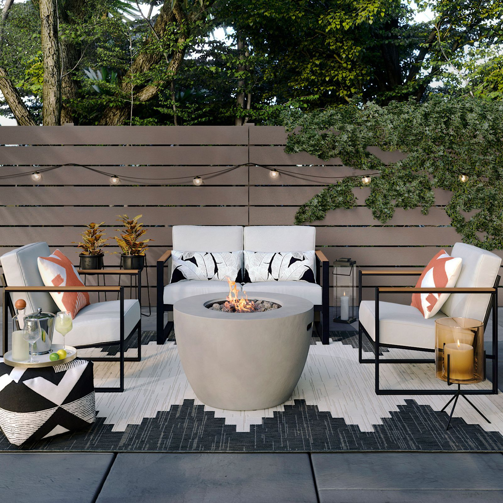 Psst Here S Your Exclusive Look At Target S New Spring Home Collection Outdoor Fire Pit Seating Target Patio Furniture Outdoor Garden Furniture