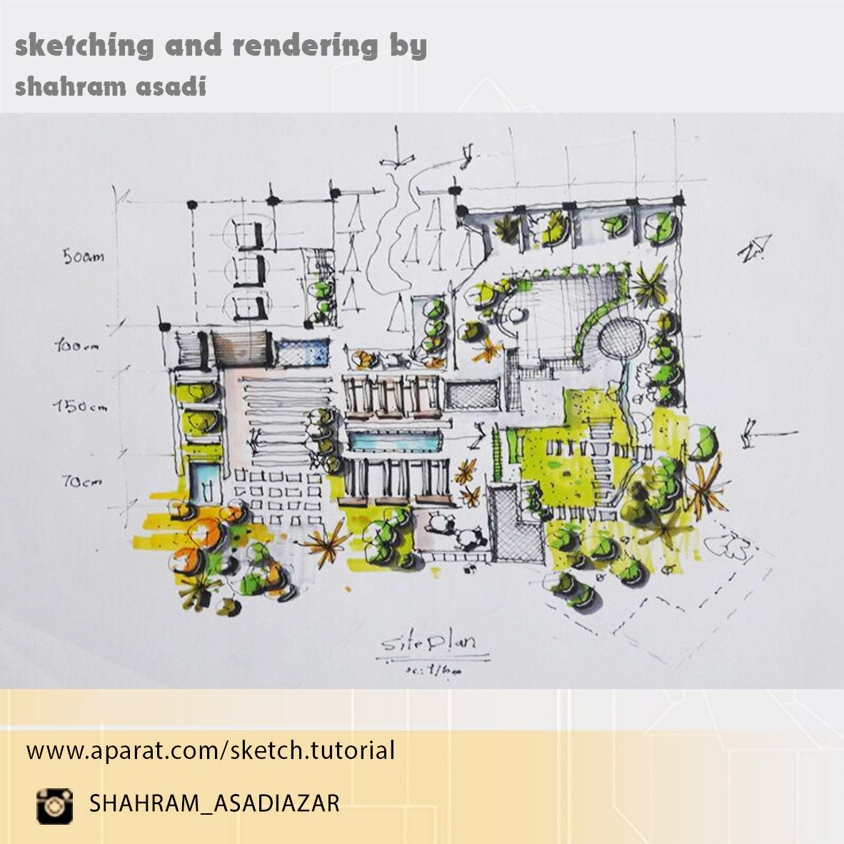 site plan sketch [ 1182 x 1182 Pixel ]