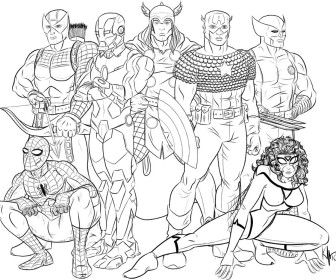 The Avengers Coloring Pages Printable New 2017 Pinterest