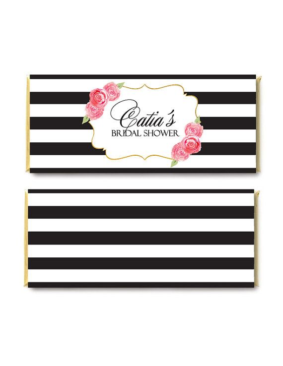 Striped Candy Bar Wrapper Bridal Shower by PapierCouture1 on Etsy - candy bar wrapper template