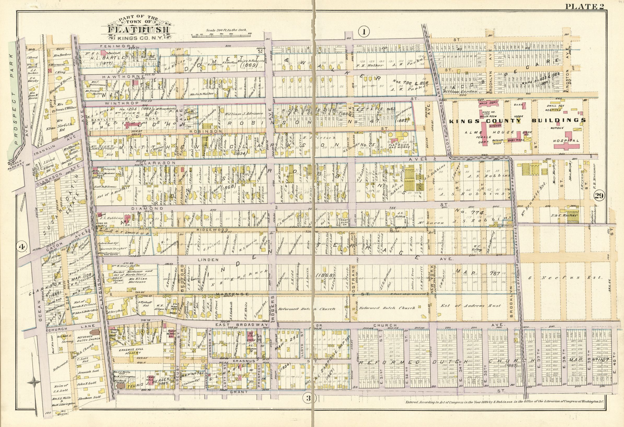 Plate 2 - Part of the Town of Flatbush Kings Co., N.Y. | Library of Congress
