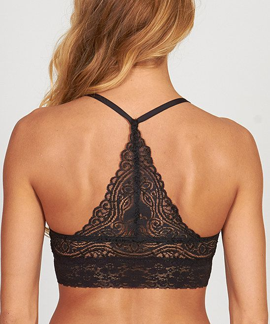 35e334359f7 Black lace back bra More