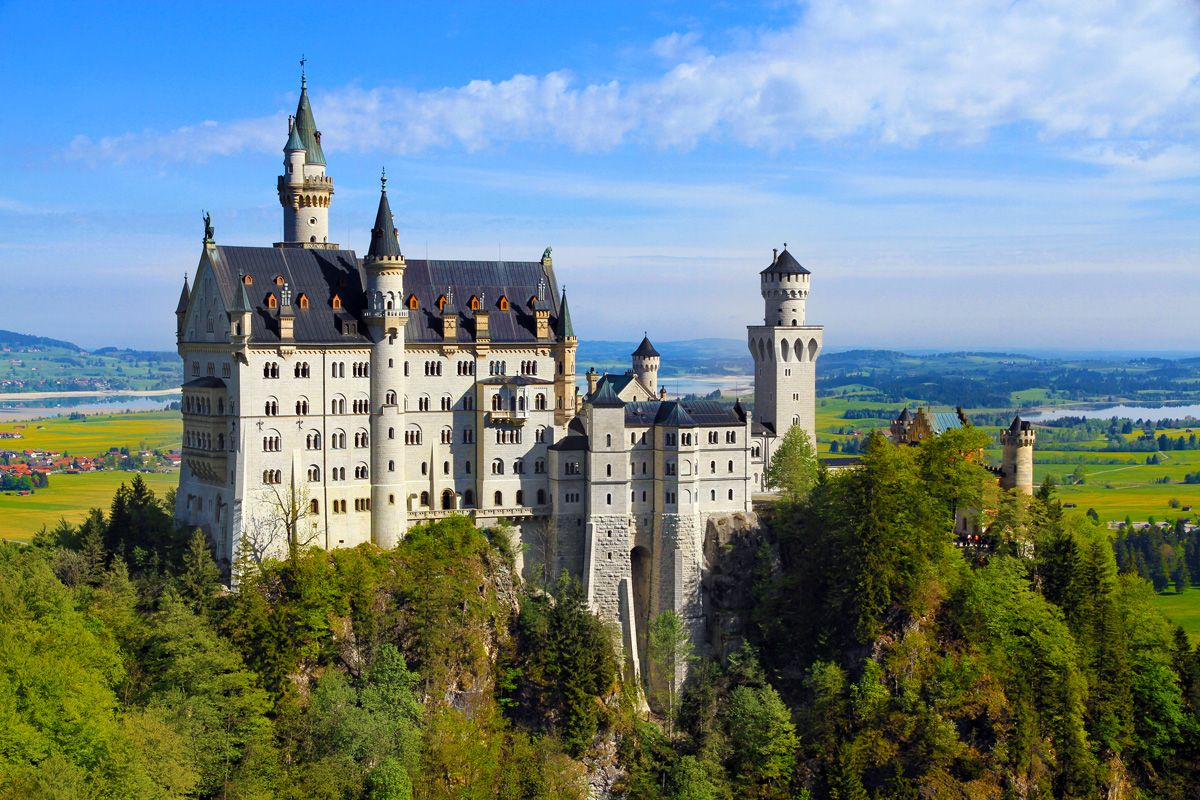 "Neuschwanstein (""New Swan Stone Castle"") is one of the most ..."