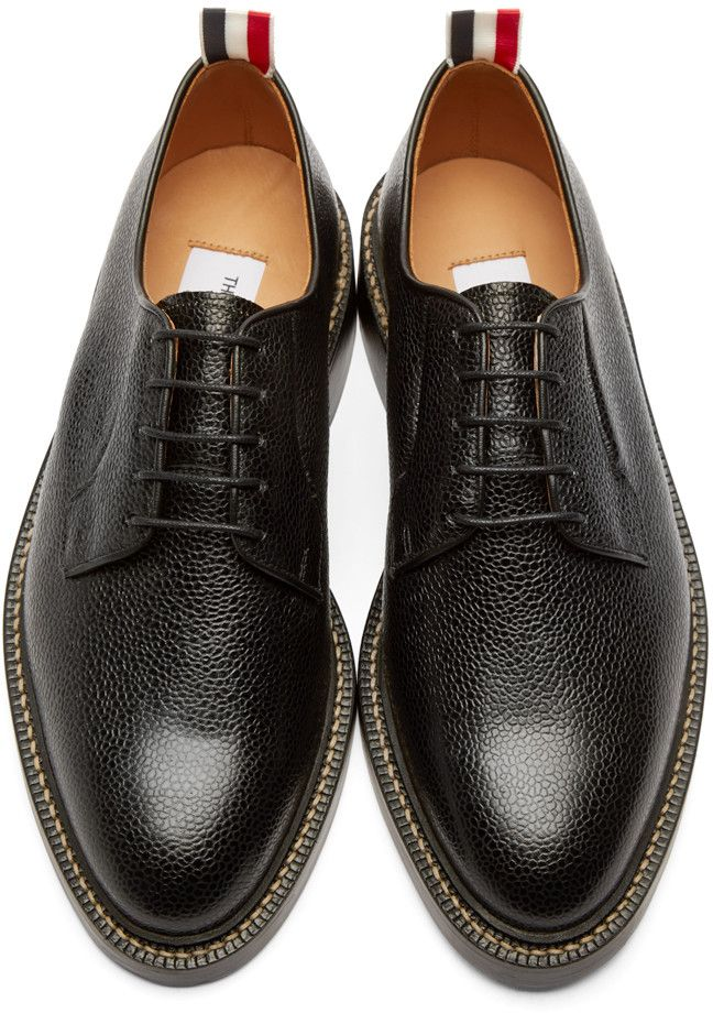 eb9e8936c76 Thom Browne - Black Leather Derbys