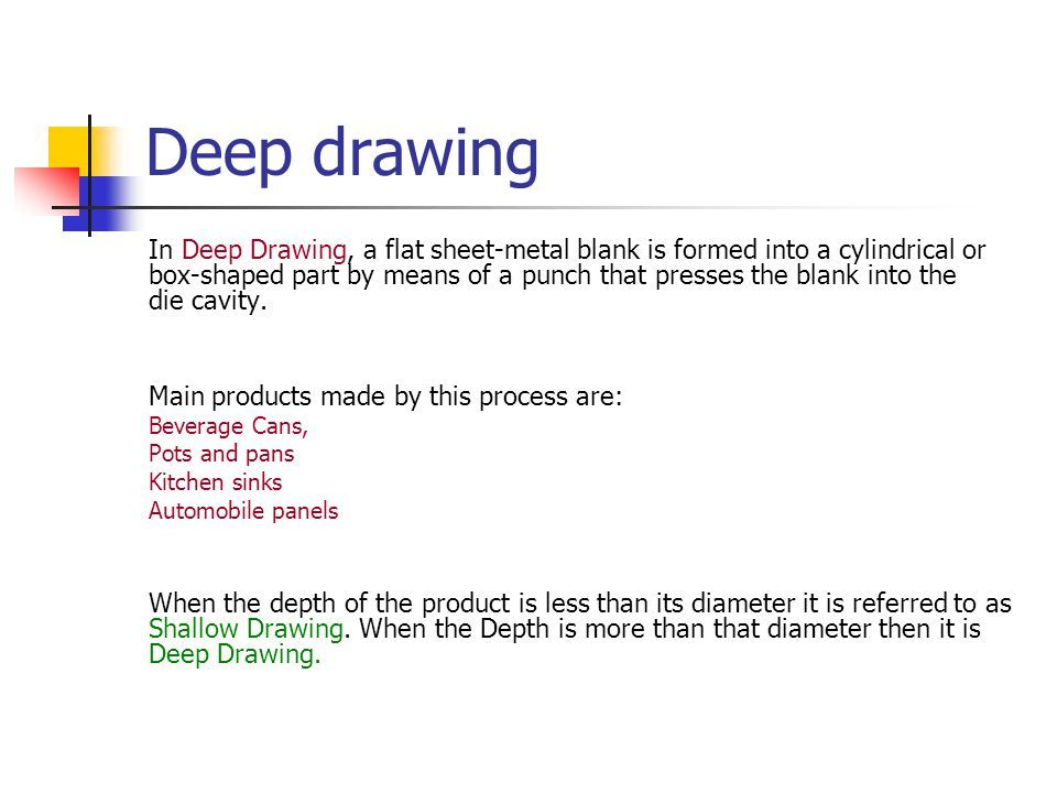 Sheet Metal Forming Deep Drawing. - Ppt Video Online Download Sheet Metal Forming Deep Drawing. - Ppt Video Online Download Drawing Products deep drawing products