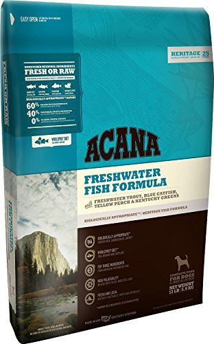 Acana Heritage Freshwater Fish Dog Food 45 Pounds Details Can