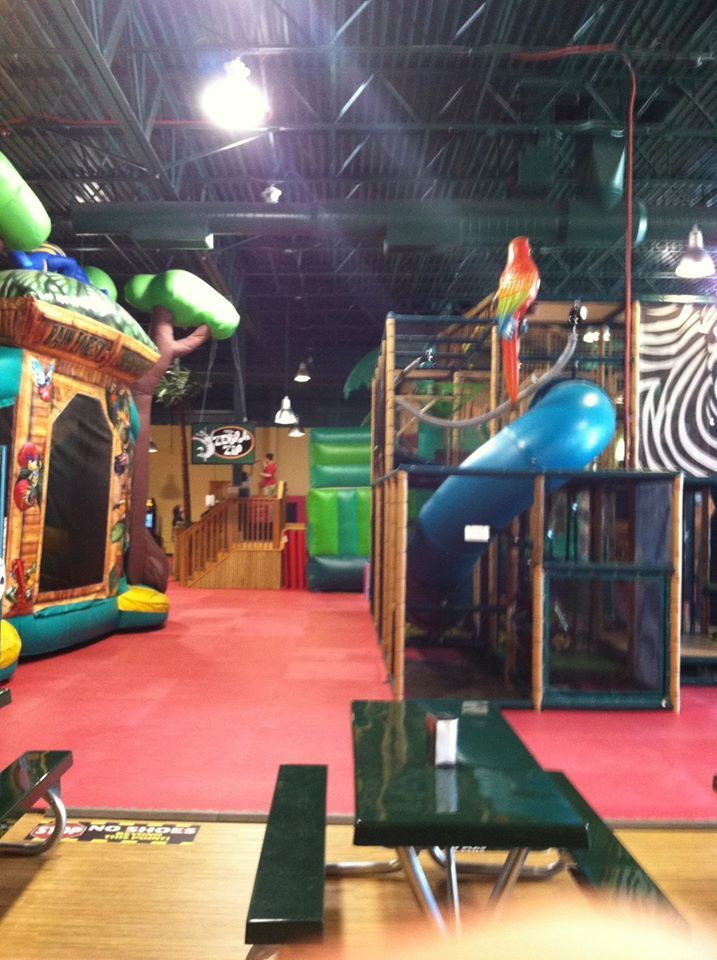 Safari Nation Is a large indoor playground with inflatables jungle