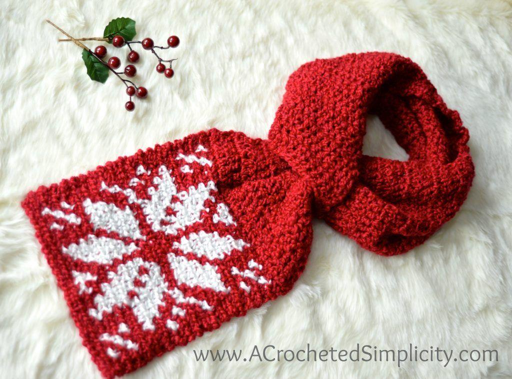 Free Crochet Pattern - Snowflake Keyhole Scarf - A Crocheted ...