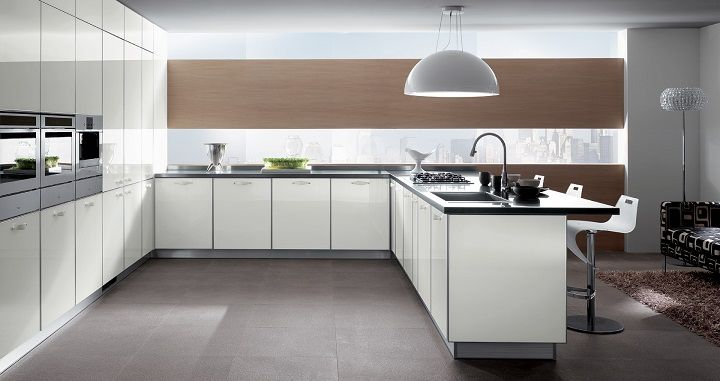 Fall in love with black and white glossy kitchen designs! kitchen
