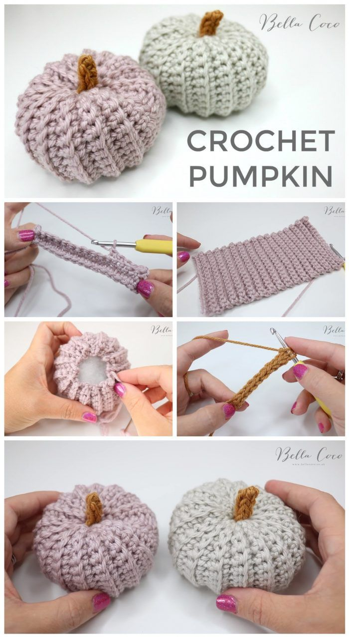 Halloween Crochet Pumpkin Tutorial #crochet
