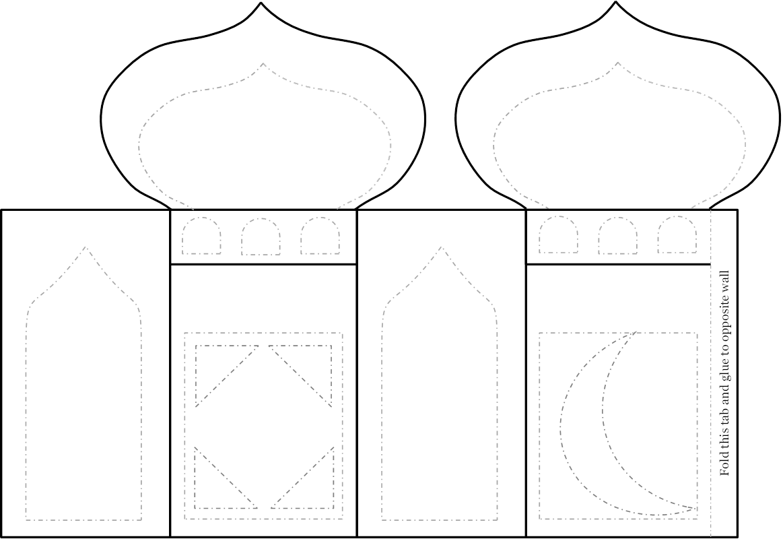 printable ramadan lantern template  Ramadan Craft Project: Mosque-Lantern | Zaufishan | Ramadan ...