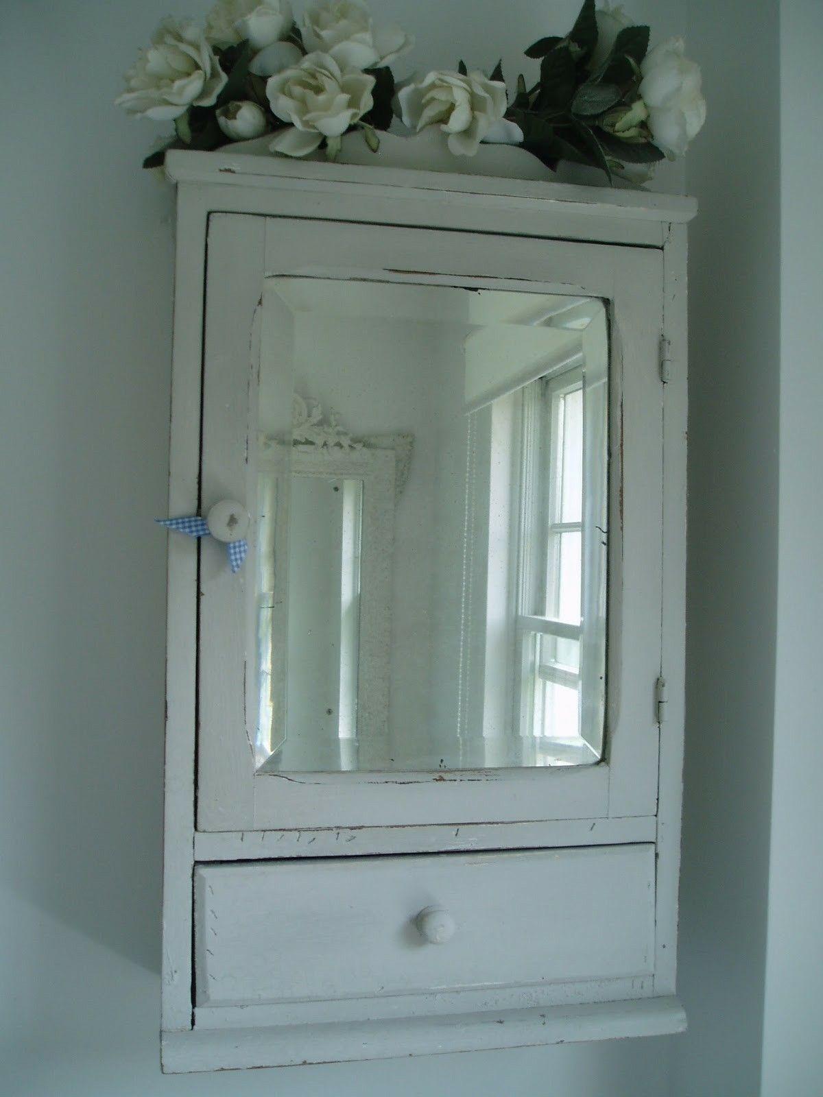 A Vintage Bathroom Cabinet With Mirror Vintage Bathroom Mirrors