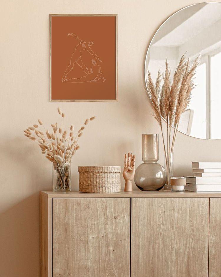 Minimal Women   Interior   Abstract Wall Print   M