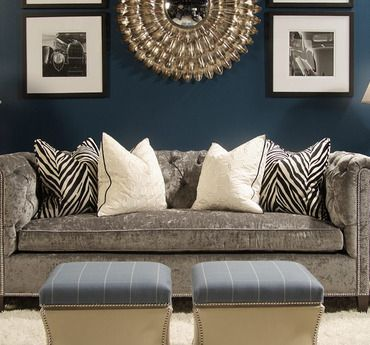Blue Gold And Zebra Living Room Paint Teal Walls Home Decor
