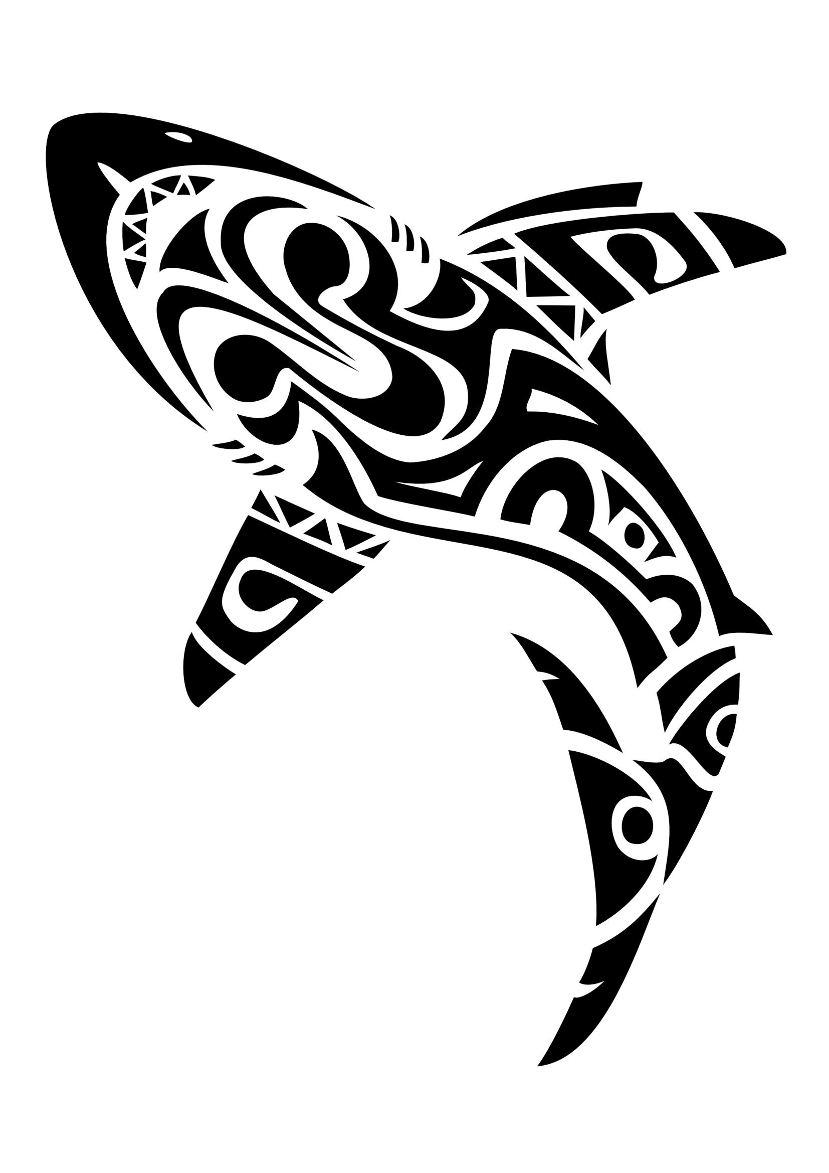 Squalo+Maori Disegni Del Tatuaggio Tribale, Disegni Del Tatuaggio Maori, Tatuaggi  Maori,