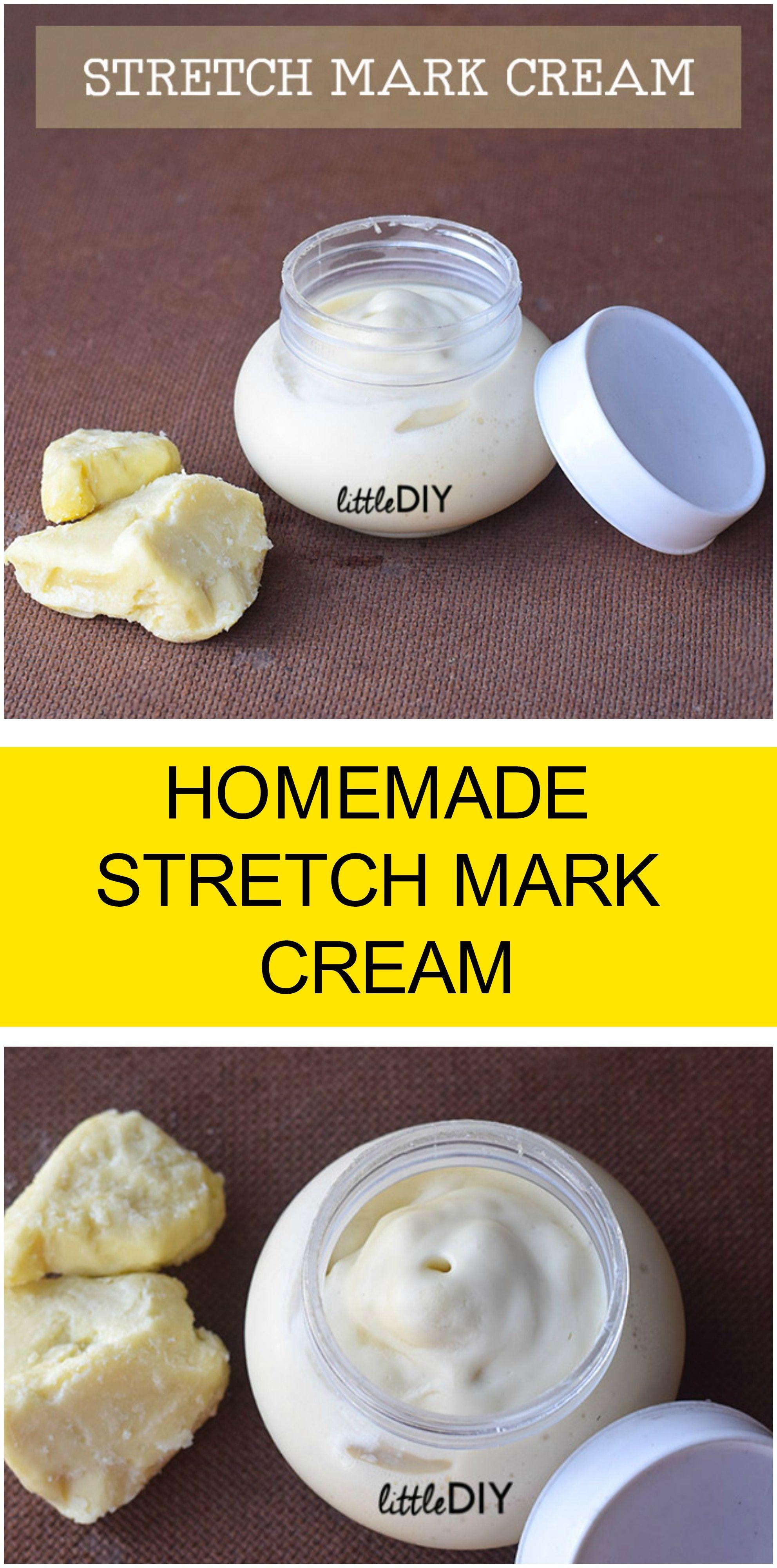 HOMEMADE STRETCH MARK CREAM  Stretch marks Stretches and Homemade