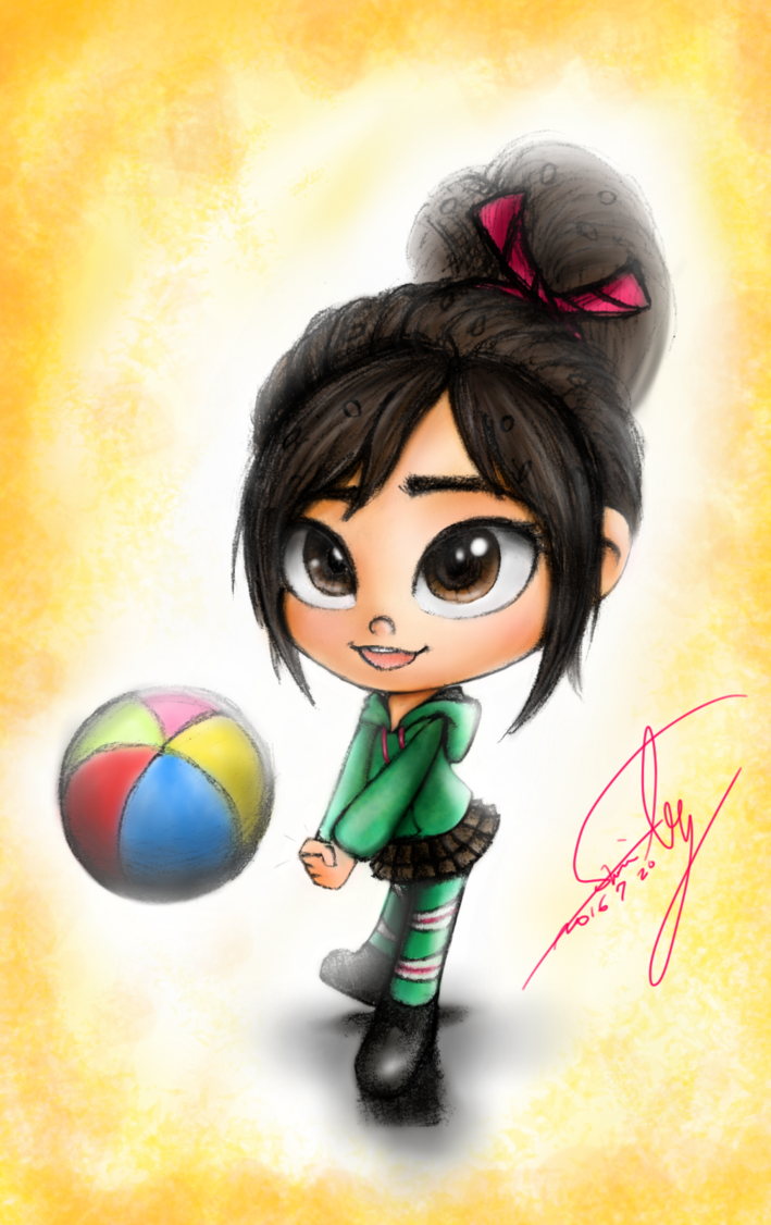 Volleyball Vanellope Colored By Summilly Deviantart Com On Deviantart Drawings Disney Wreck It Ralph