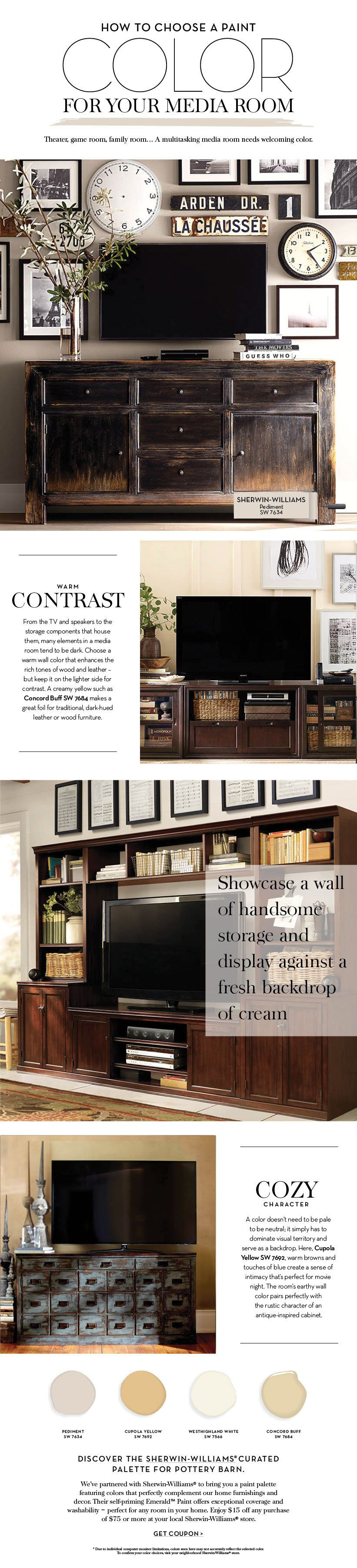 Choose a paint color for your media room pottery barn loft