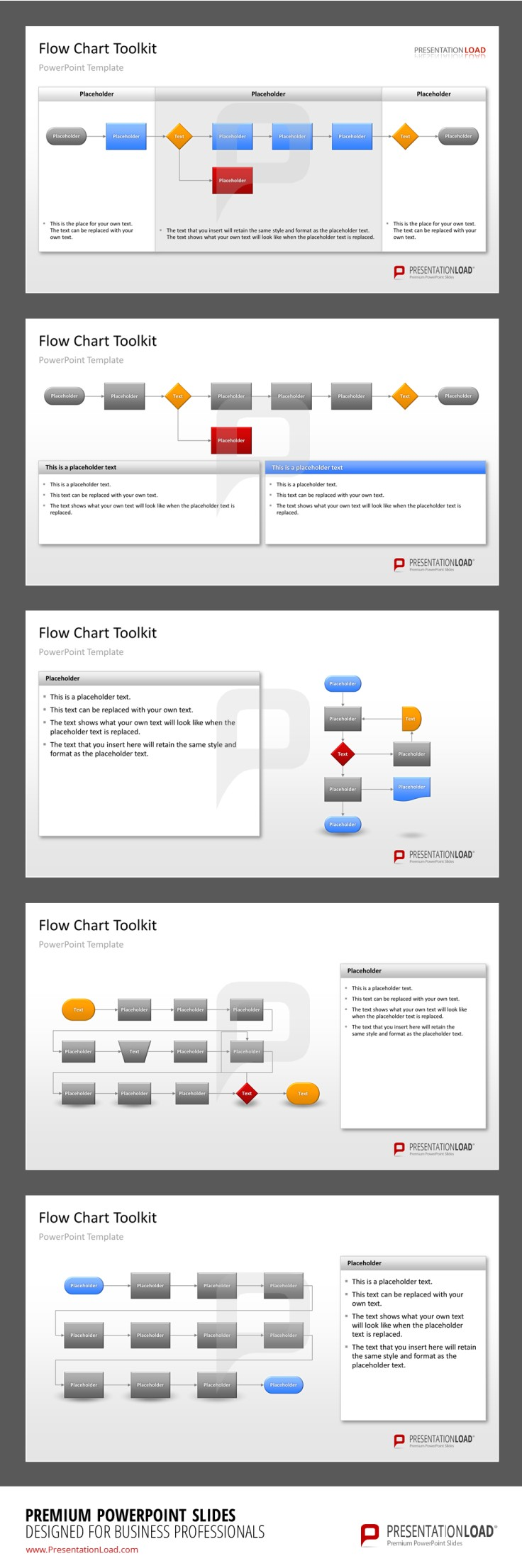Flow Charts PowerPoint Templates All graphics and icons
