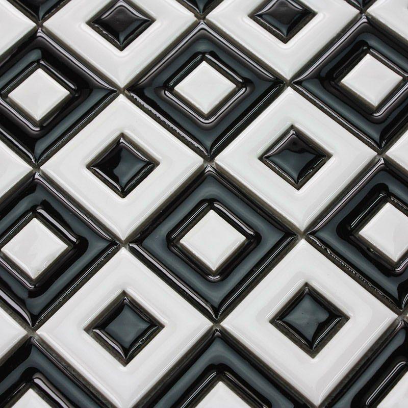Ceramic Mosaic Tiles Black Porcelain Kitchen Back Splash 9003 Discount Bathroom Wall Tile Back Ceramic Mosaic Tile Mosaic Backsplash Kitchen Bathroom Wall Tile