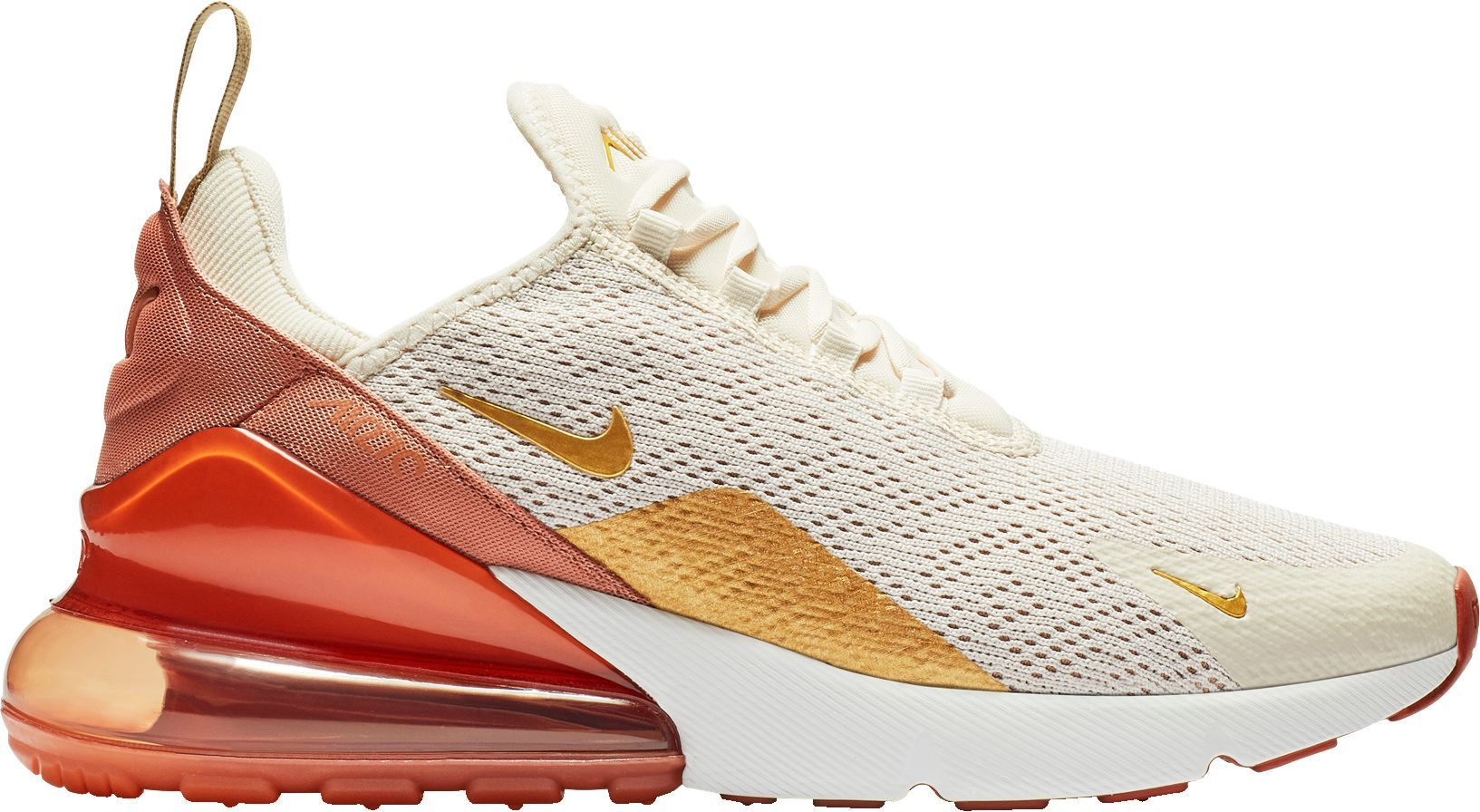 Nike Women's Air Max 270 Shoes, Ivory/Gold | Air max women ...