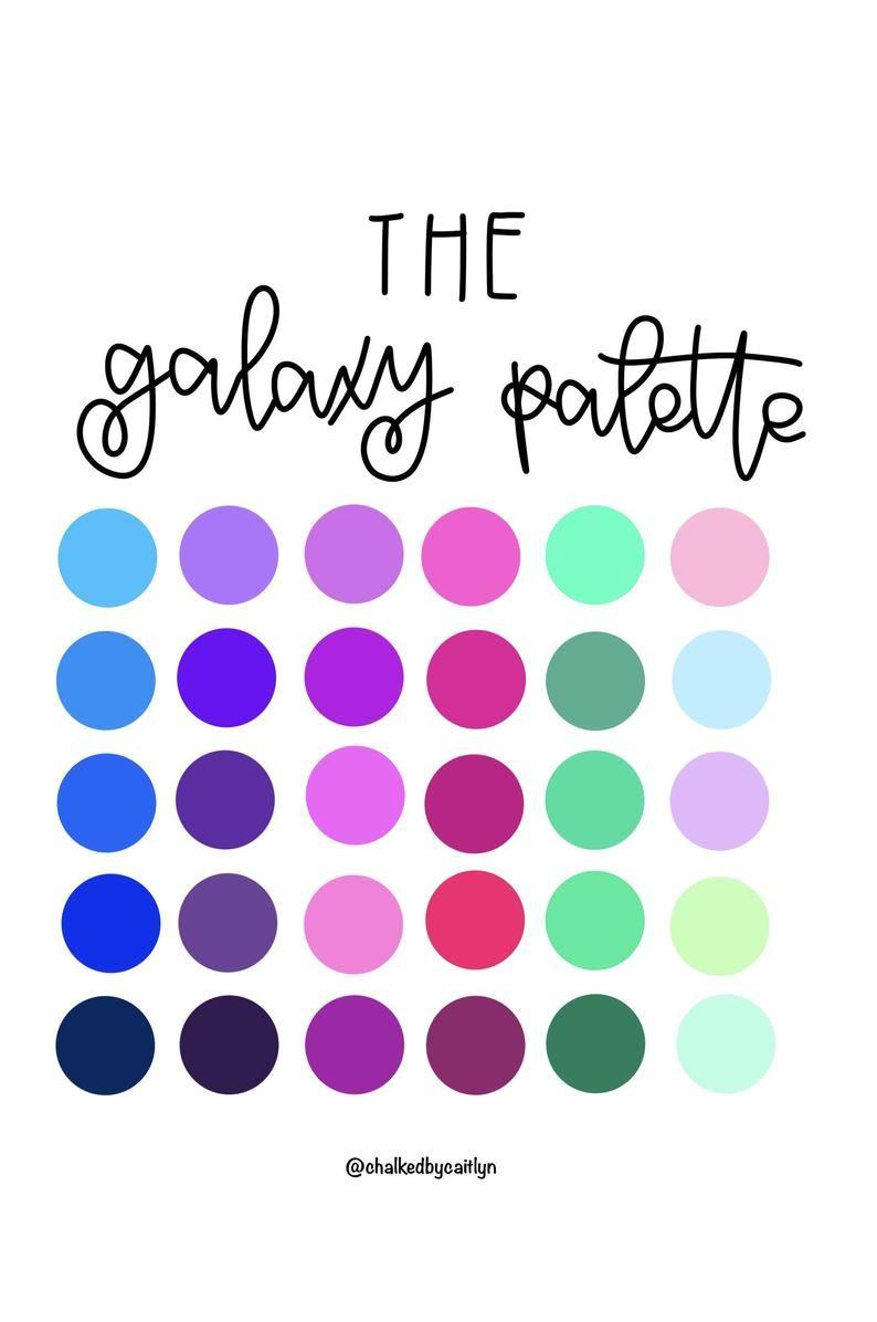 Vintage Color Swatches Procreate Color Pallet
