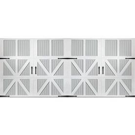 Pella Series 192 In X 84 In Insulated True White Gray Double Garage Do Garage Doors Double Garage Door Garage Door Design