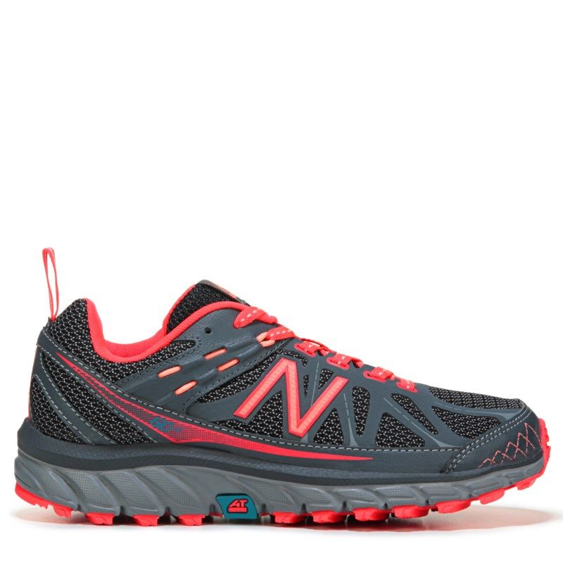 New Balance Women's 610 V4 Medium/Wide Trail Running Shoes (Grey / Fire Coral) - 7.5 D