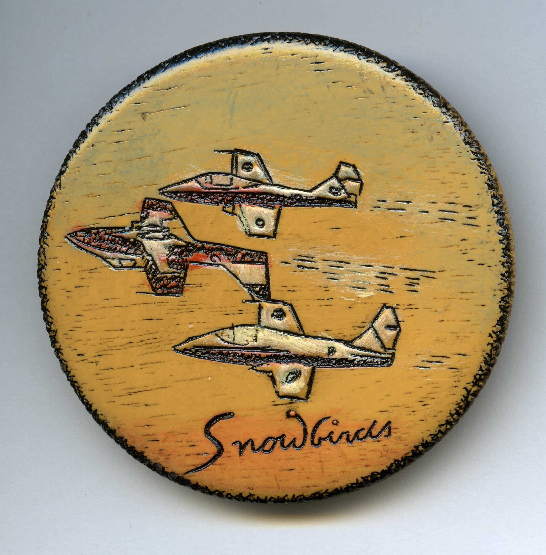 Snowbirds Button Snowbird, Porsche logo