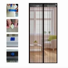 [ 20% OFF ] 90*210Cm Magnetic Mesh Screen Door Self-Closing Curtain For Household Anti-Insects Door Curtain Net Netting Mesh Screen Magnets