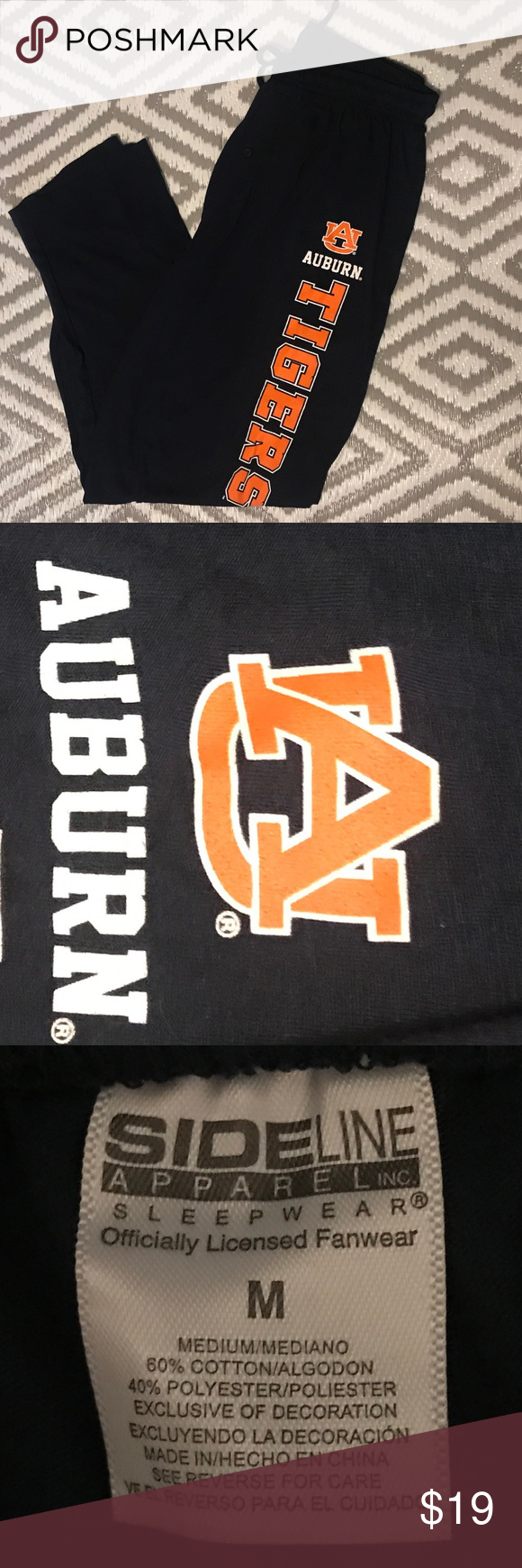 Auburn pajama bottoms for men