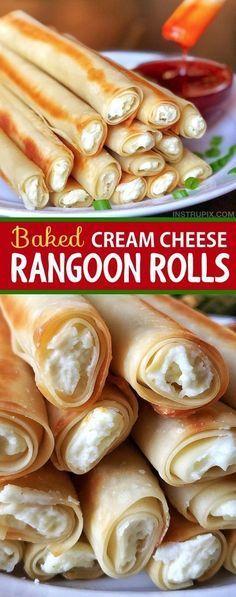 Einfache gebackene Frischkäse-Rangun-Rollen   – Recipes