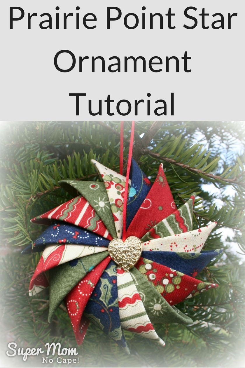 Make these beautiful Prairie Point Star Ornaments to hang in your