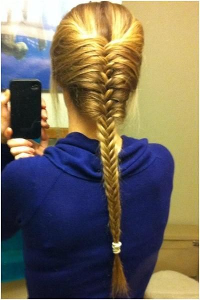 French Fishtail Braid- Need to learn how to do this <3