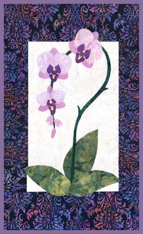 Orchid Quilt Pattern Flower Quilts Applique Quilt Patterns Quilt Patterns