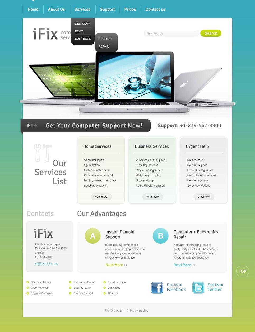 Computer Repair Website Template Repair Computer Template Website Computer Repair Website Template Computer Repair Services