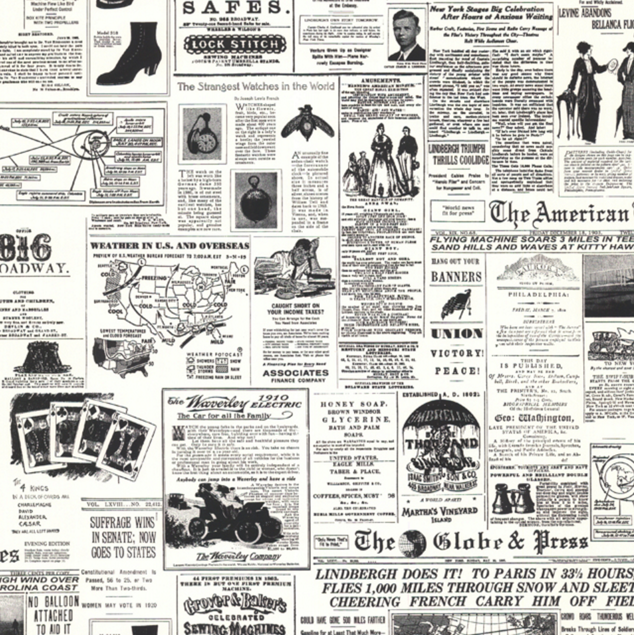 vintage headlines wallpaper | products | pinterest | wallpaper
