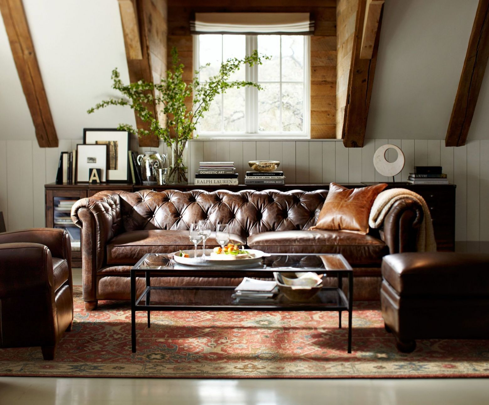 Interior Design Ideas With Chesterfield Sofa Leather Sofa Living