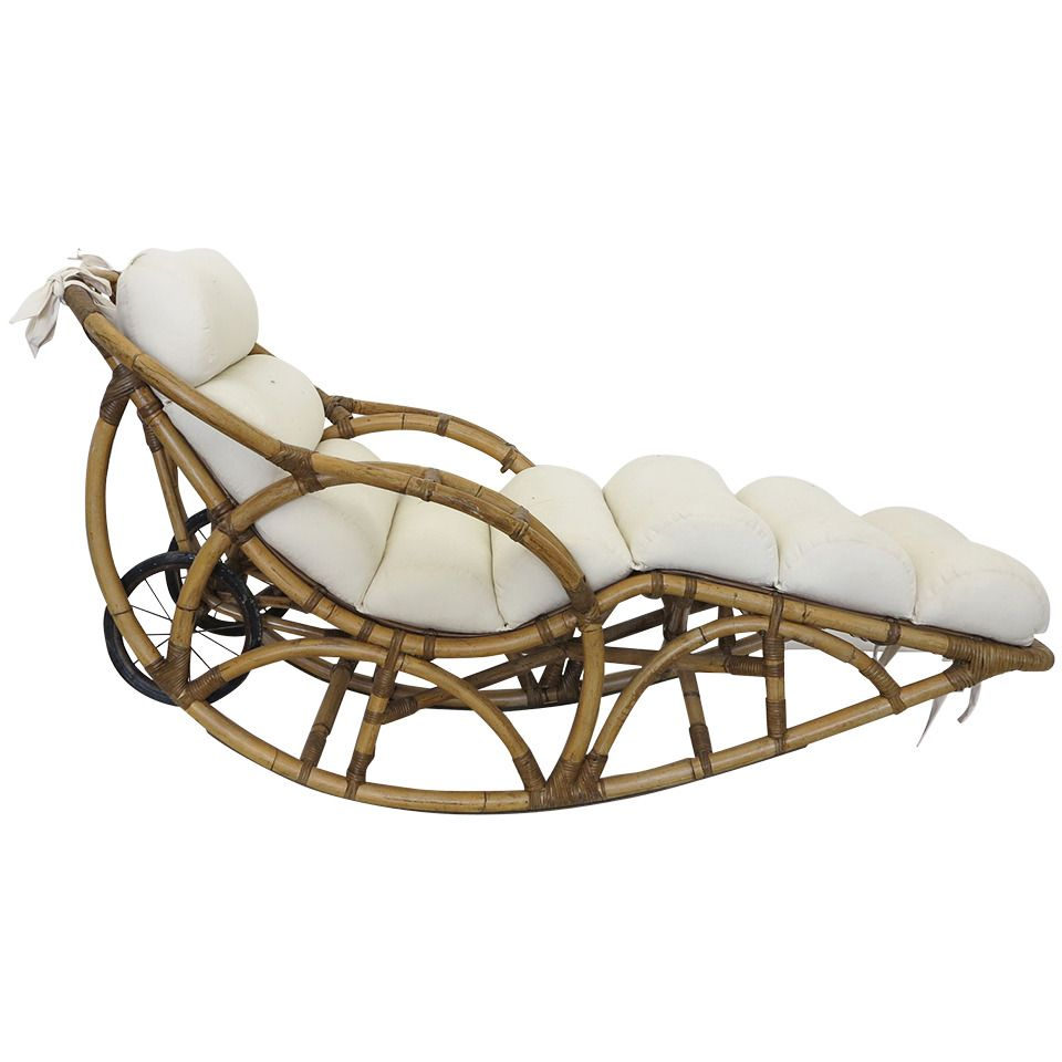 Vintage Rattan Chaise Lounge Rocking Chair Circa 1930s From A Unique Collection Of Antique And Modern Chaises Boho Furniture Bamboo Decor Tropical Furniture