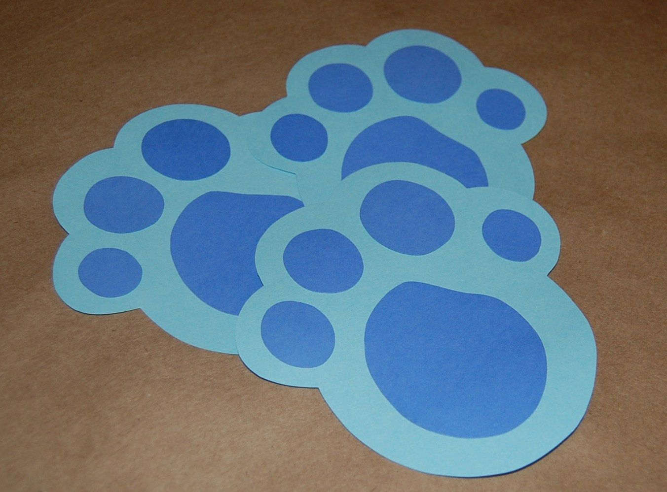 blue u0027s clues inspired paw print game set of 3 kids ideas