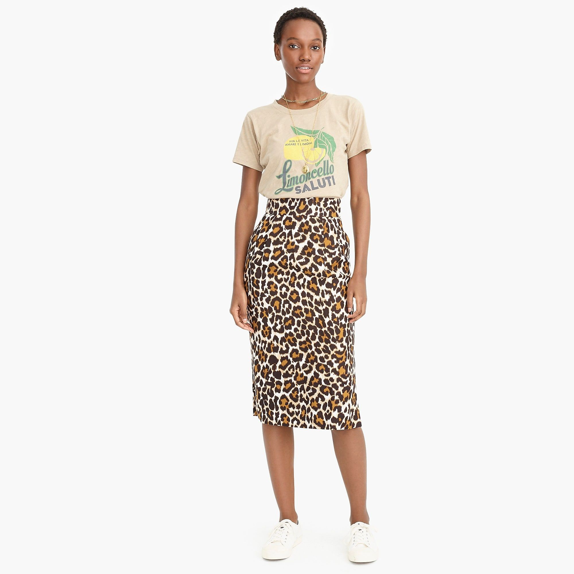 2f62fd8a48 Linen pencil skirt in leopard print : Women leopard everything | J.Crew