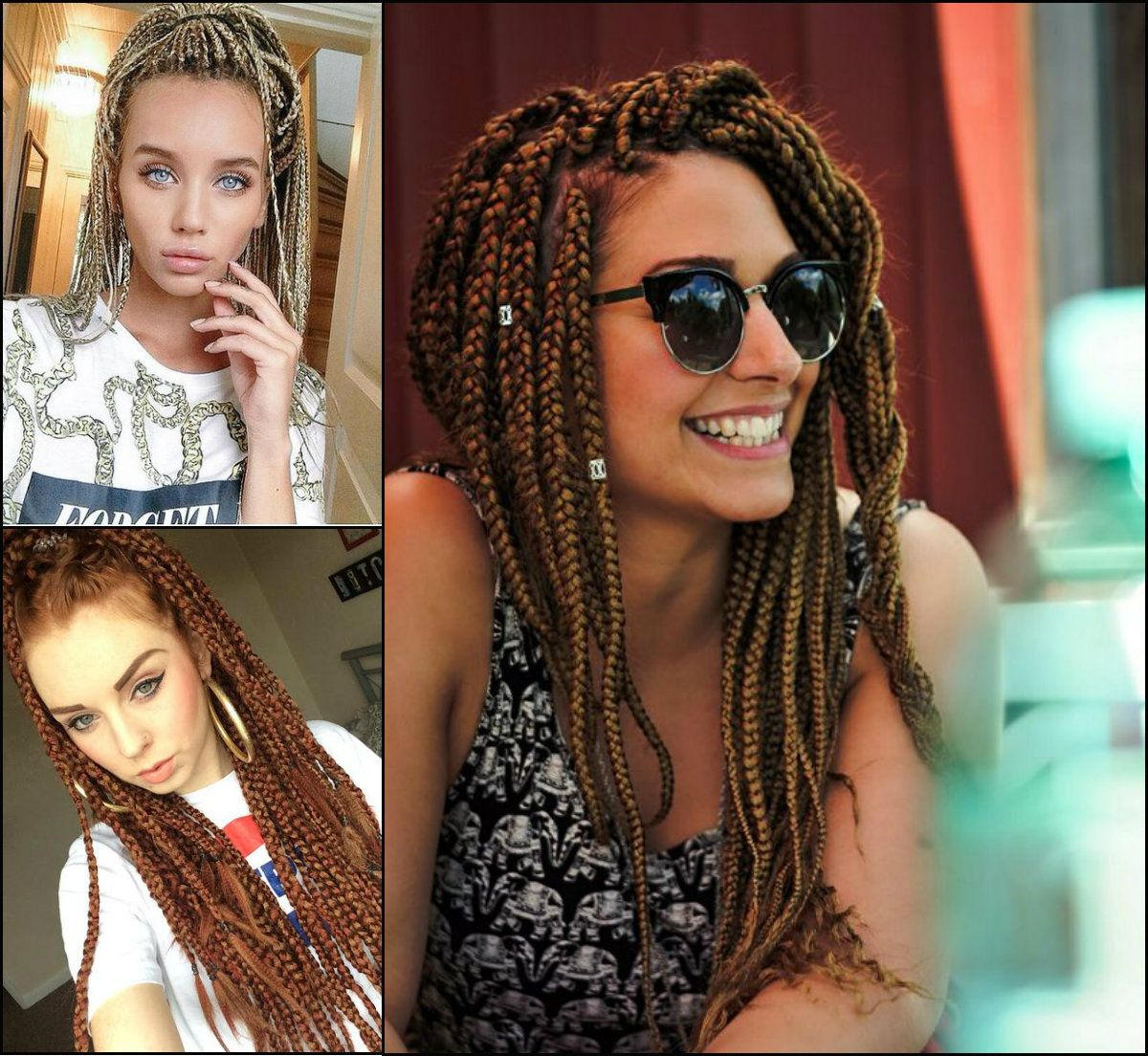 White Girl Box Braids Hairstyles To Try Now White Girl Braids