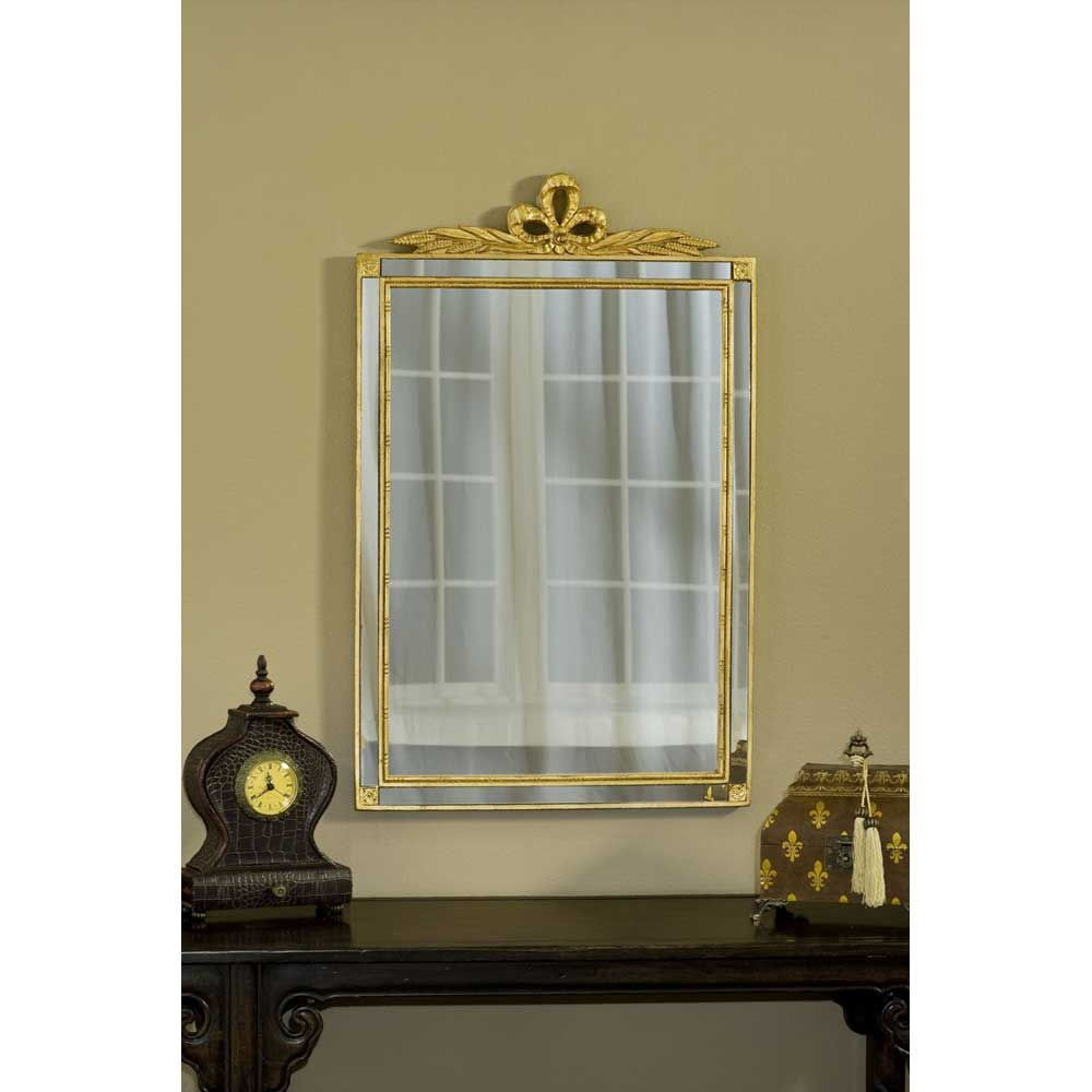 Hickory Manor House Old World Mirror With Side Glass In Gold Leaf Accent Mirrors Traditional Wall Mirrors Mirror Wall