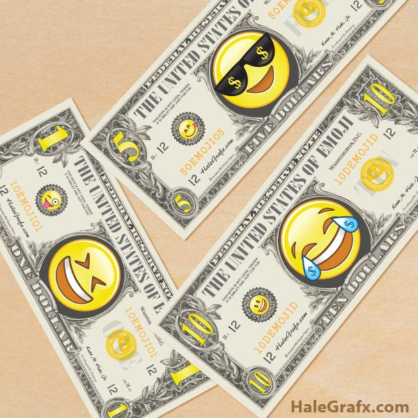 Black dress emoji money